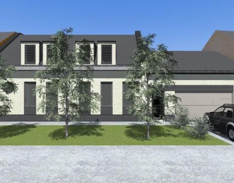 Családi ház zártsorú beépítéssel